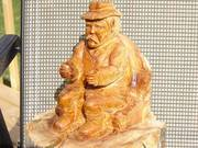 folk art wood carving for sale 300.00